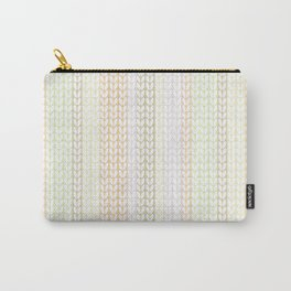 Knitted pattern in pastel colours.1 Carry-All Pouch