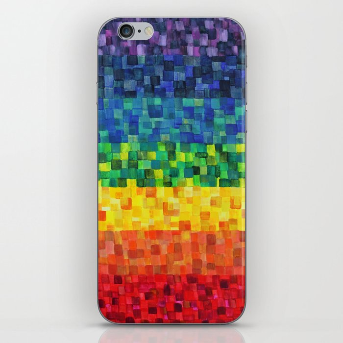 Chakra Rainbow Tiles iPhone Skin