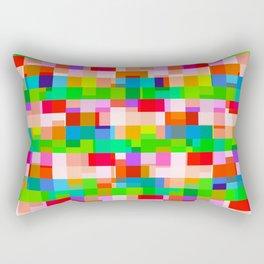 abstract colorful blocked art pattern Rectangular Pillow