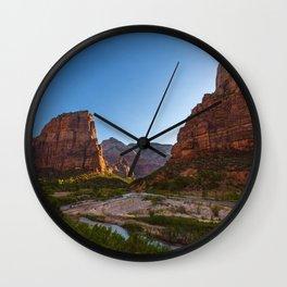 Angel's Landing Zion National Park Utah Wall Clock