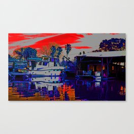 Shades of Red and Purple Canvas Print