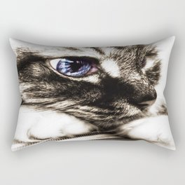 Hello there, Blue Eyes.. Rectangular Pillow