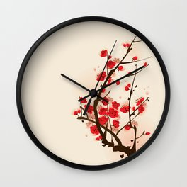 Oriental plum blossom in spring 012 Wall Clock