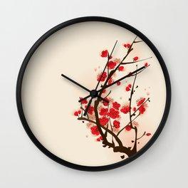 Oriental plum blossom in spring 012 Wall Clock