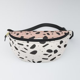 Terrazzo pink abstract Fanny Pack
