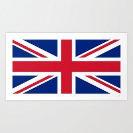 UK Flag Union Jack Art Print