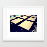 drum Framed Art Prints featuring Drum Machine by Derek Fleener