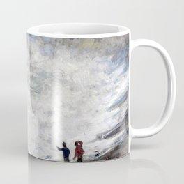 1883-Claude Monet-Rough weather at Étretat-65 x 81 Coffee Mug