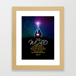 The Word Framed Art Print