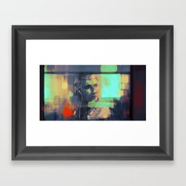 Bus ride Framed Art Print