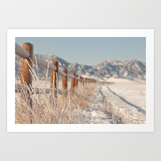 rocky mountain snow Art Print