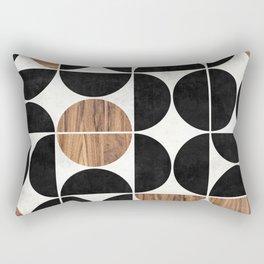 Mid-Century Modern Pattern No.1 - Concrete and Wood Rectangular Pillow