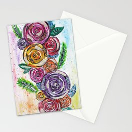 Rainbow Roses Stationery Cards