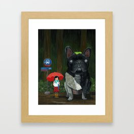 """My French Bull Chubu""  Framed Art Print"