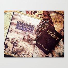 Tolkien Books Canvas Print