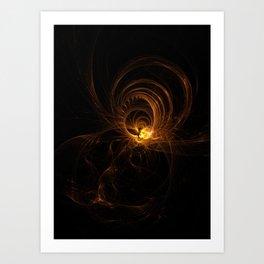 a light in the dark Art Print