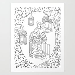 Borges and I Art Print