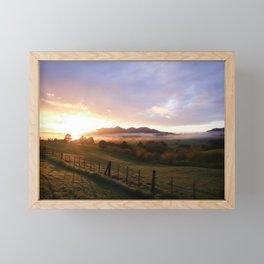 New Zealand Sunrise Framed Mini Art Print