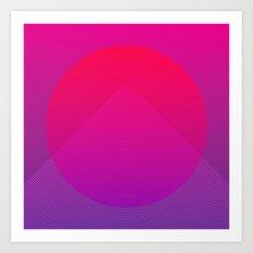 Neon Rise Art Print