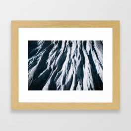 Arctic Glacial Pattern from above - Landscape Photography Framed Art Print