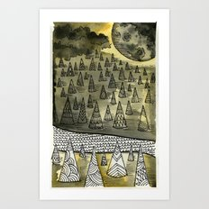River Runnin Art Print