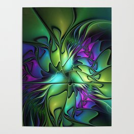 Colorful And Abstract Fractal Fantasy Poster