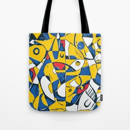 Pixelated Abstract Art Tote Bag