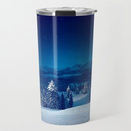 Snowy silent christmas night Travel Mug