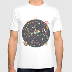 Flower pattern 02 Mens Fitted Tee MEDIUM White