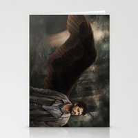 castiel Stationery Cards featuring Castiel by Amanda Shae