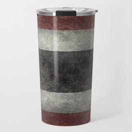 The National flag of Thailand, (formerly known as Siam) Vintage Desaturated version. Travel Mug
