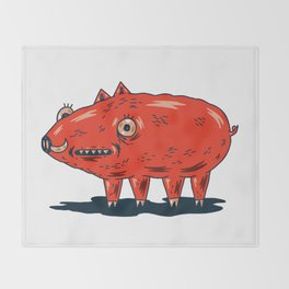 Haifa Pig Throw Blanket