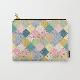 Spring cottage patchwork Carry-All Pouch
