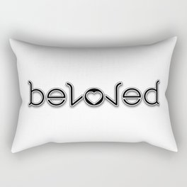 BELOVED ambigram Rectangular Pillow
