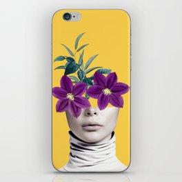 Floral Portrait 2 iPhone Skin