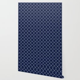Navy Blue Moroccan Wallpaper