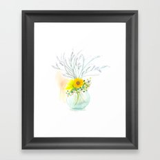 Little Vase Of Flowers Framed Art Print
