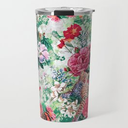 Leopards and Flowers Travel Mug