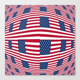 Flag of Usa 8- america,us,united states,american,spangled,star and strips Canvas Print
