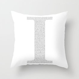 """Quote from Ayn Rand's """"Anthem"""" Throw Pillow"""