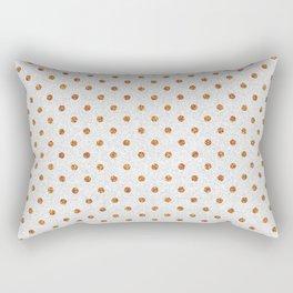 Elegant white modern faux gold glitter polka dots Rectangular Pillow