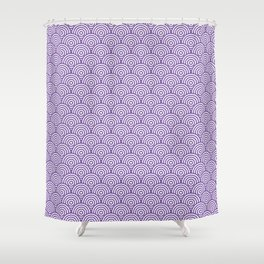 Purple Concentric Circle Pattern Shower Curtain