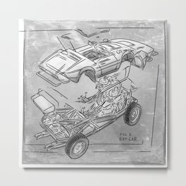 Exploded Car Metal Print
