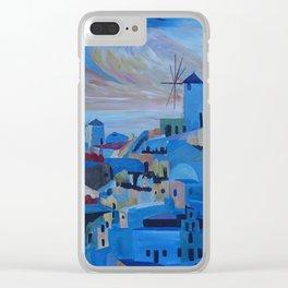 Santorini Oia Panoroma Clear iPhone Case
