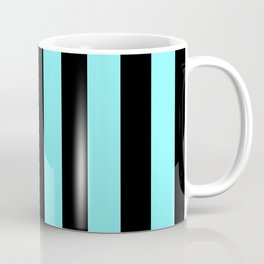 Turquoise and Black Stripes Coffee Mug