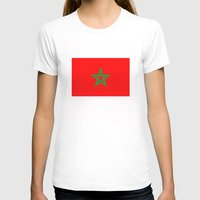 morocco T-shirts featuring Morocco country flag by tony tudor