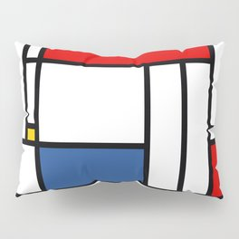 Mondrian color pattern Geometric Red Yellow Blue Pillow Sham