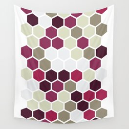Texture hexagons - Berry Wall Tapestry