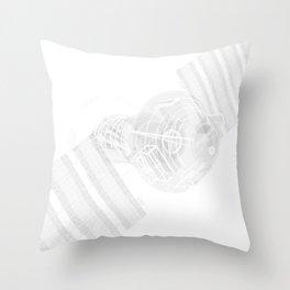 Explorer White and Grey Throw Pillow