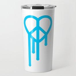 Heart peace blue Travel Mug